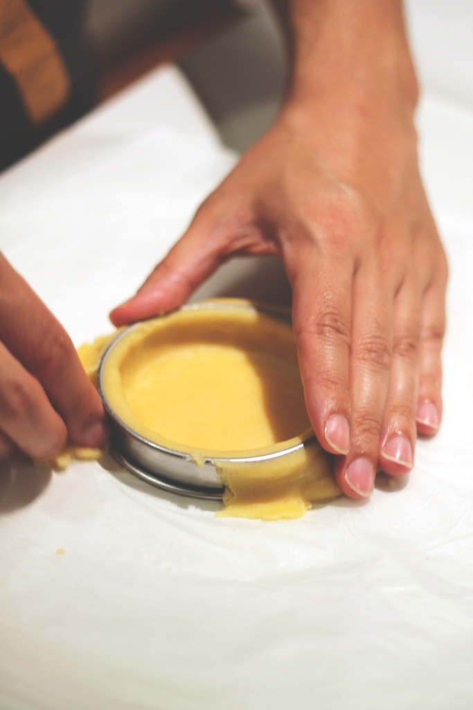 Remove any excess pastry dough