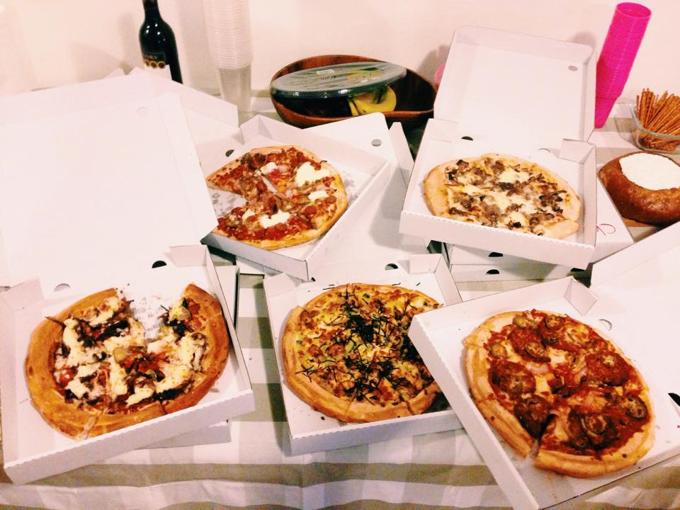 five pizzas