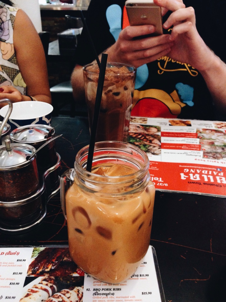 Thai milk tea and Milo volcano drink
