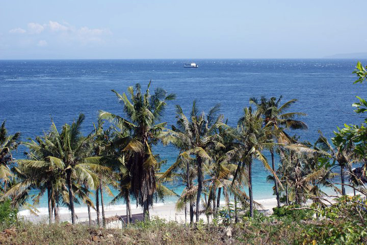 The view from up top before walking down to Bias Tegul Beach, Padang Bai