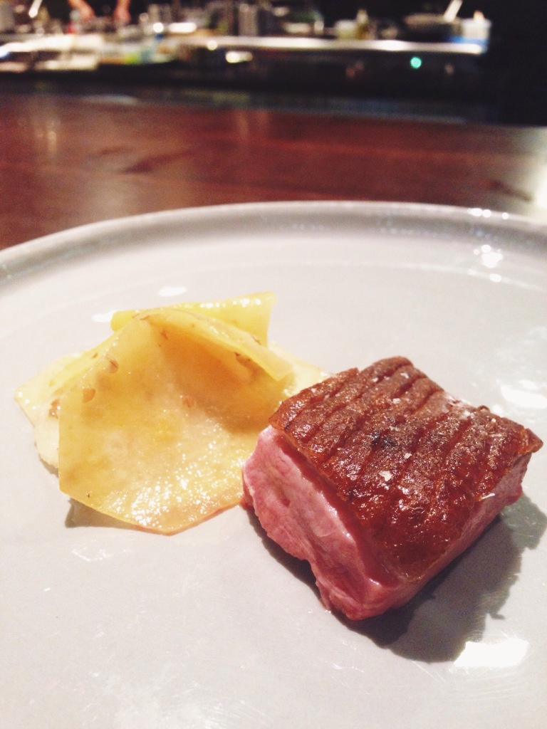 7th course: duck, rye, and swede is probably the least memorable of the night.