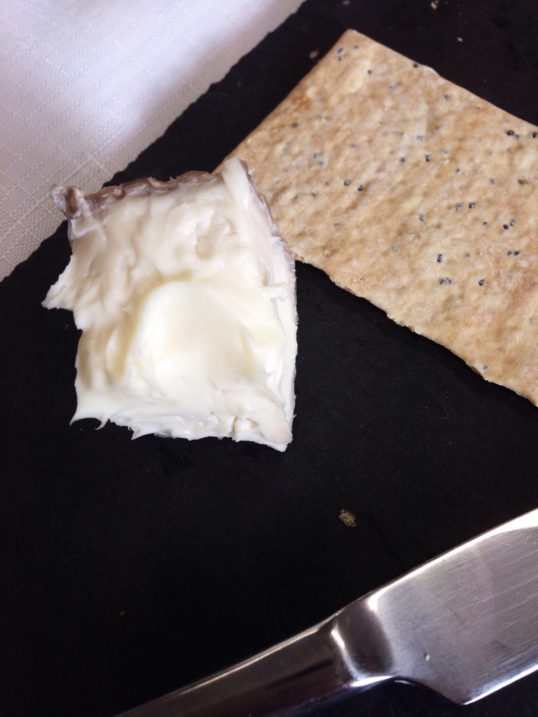Amazing Delice de Bourgogne cheese to go with a Chardonnay flight.