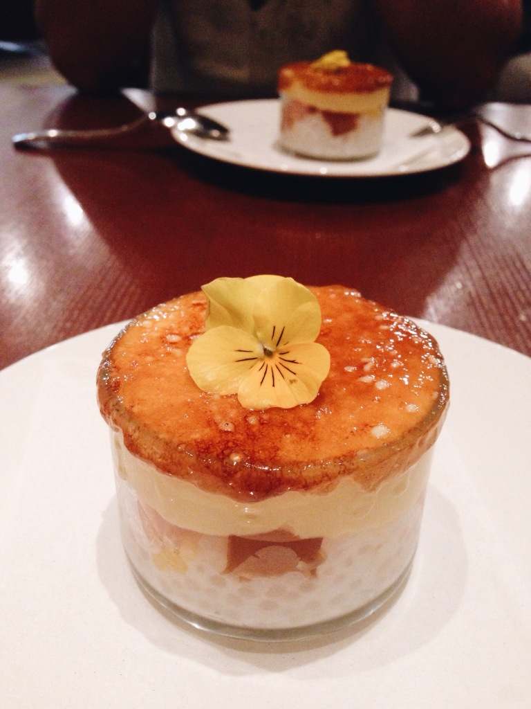 Passionfruit brulee at MW Restaurant