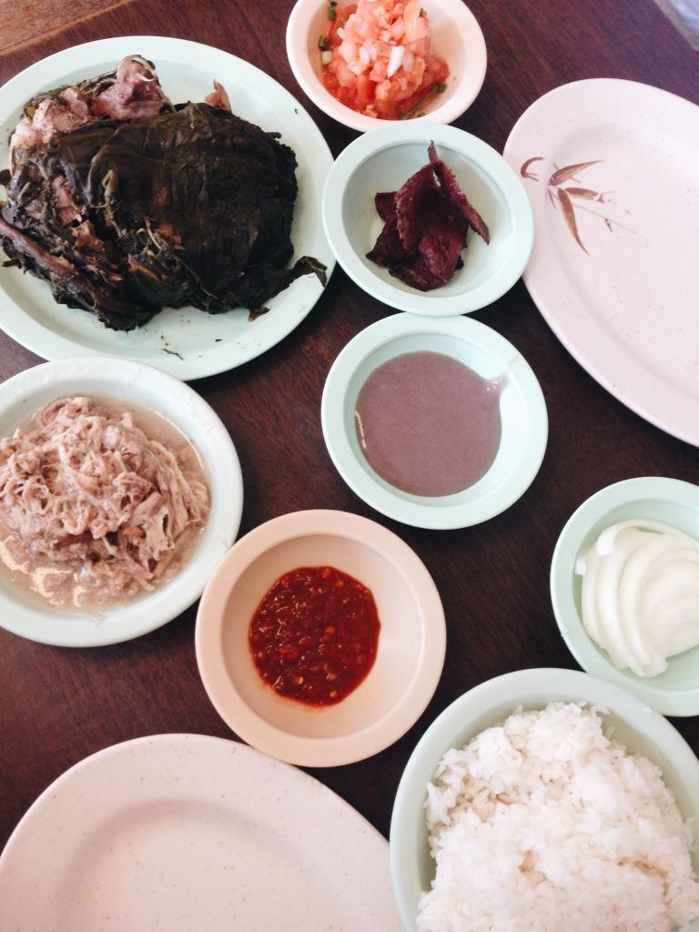 The spread at Ono Hawaiian Foods
