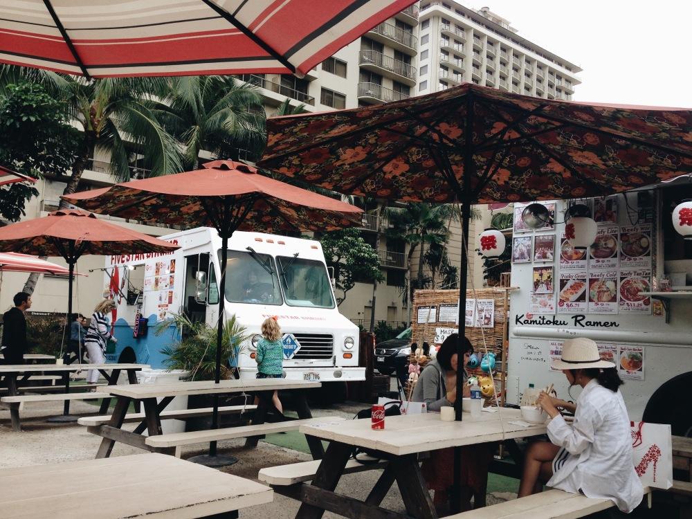 Food trucks in Waikiki