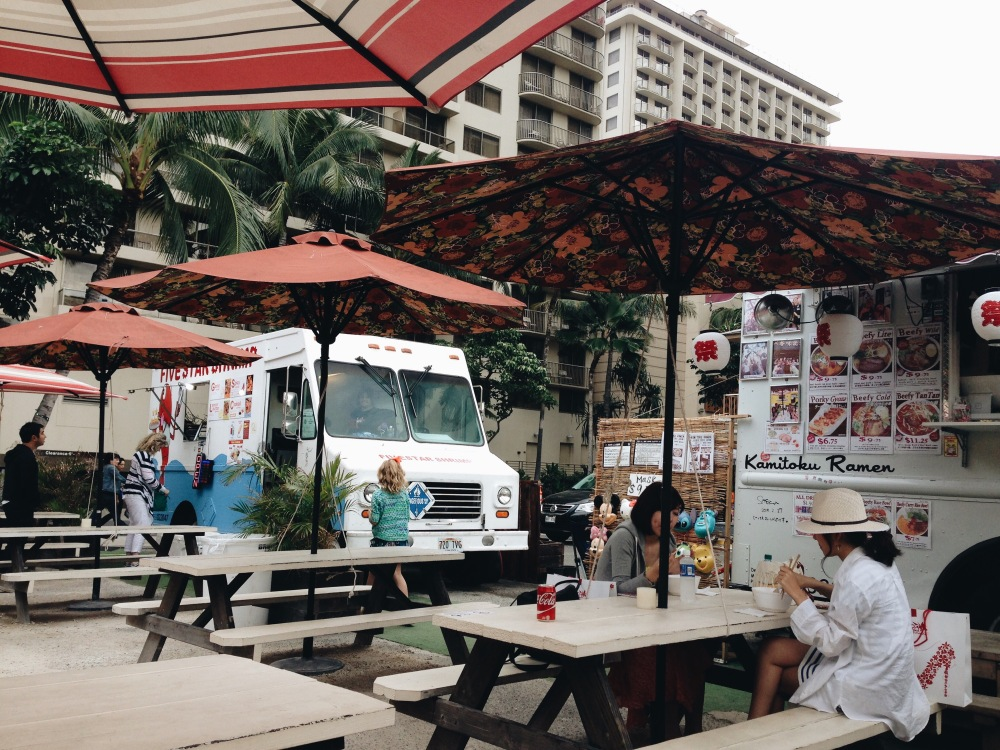 Food trucks in Waikiki