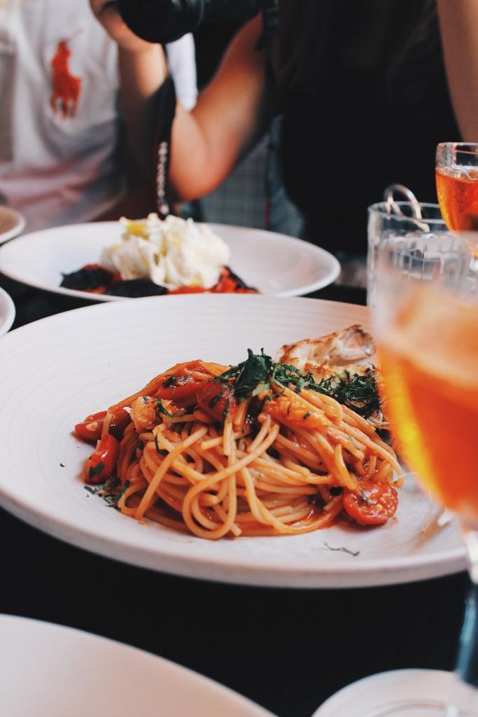 Scampi spaghetti at Fratelli Paradiso