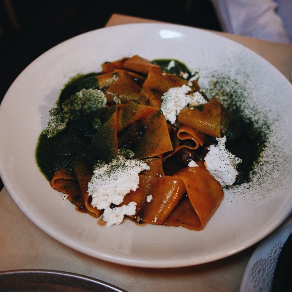 Pappardelle bolognese at The Dolphin